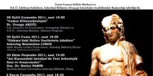 İzmir Arkeoloji Seminerleri Sonbahar Serisi