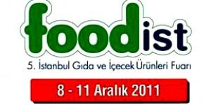 FOODist 2011, 5. İstanbul Gıda ve İçecek Ürünleri Fuarı Başlıyor