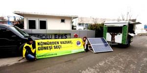 Greenpeace, Efes'e 14 Şubat Mesajı Verdi