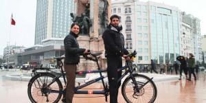 Bisikletle Dünya Turuna Çıkan Çift, İstanbul'daydı