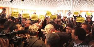Nükleer Bilgilendirme Toplantısına Yoğun Protesto