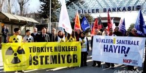 Ankara'da Nükleer Toplantısına Protesto