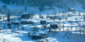 Samanlı Dağları, Evler ve Kar