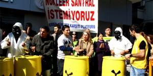 Mersin'de Variller Nükleere Karşı Çaldı