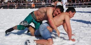 Şavşat Kar Üstü Karakucak Güreşleri Şenlikleri'nin Çekimi Tamamlandı