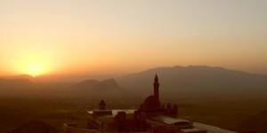 İshak Paşa Sarayı'ndan Güne Veda