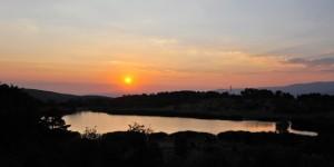 Karagöl'de Günbatımı