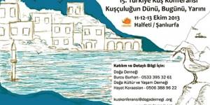 15. Türkiye Kuş Konferansı 11 – 13 Ekim'de!