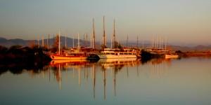 Manavgat Gölü'nde Akşam