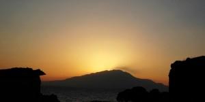 Adır Adası ve Süphan Dağı'ndan Güne Veda