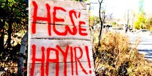 Arhavi'de Yapılması İstenen HES'lere Protesto