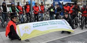Eskişehir'de Nükleere Karşı Pedal Çevirdiler