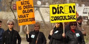 Zonguldak'ta Kömüre Karşı Miting