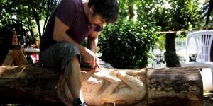 21. Uluslararası Değirmendere Zühtü Müridoğlu Ahşap Heykel Sempozyumu Başladı