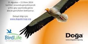 '2014 Yırtıcı Göç Sayımı'na Gönüllü Olmak İster misiniz?