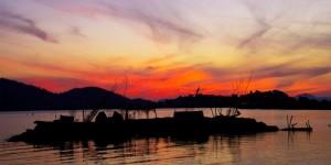 Ördek Adası'nda Günbatımı
