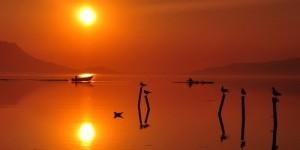 Baharda Günbatımı -1