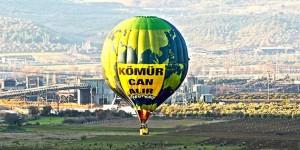 Greenpeace'den Soma'da Balonlu Eylem